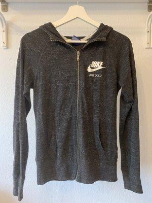 Nike Veste de sport gris foncé-noir