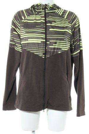 Nike Sportjacke bronzefarben-blassgelb Streifenmuster Casual-Look