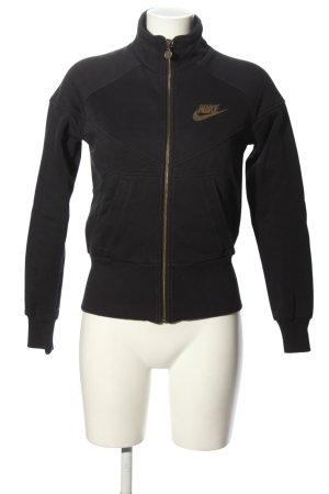 Nike Sportjacke schwarz Motivdruck Casual-Look