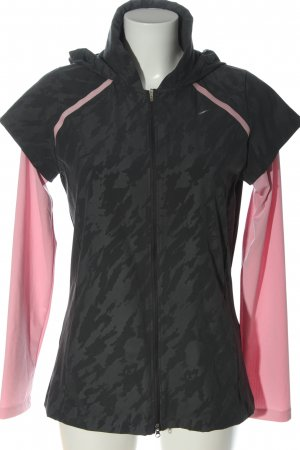 Nike Giacca sport nero-rosa stampa integrale stile casual