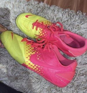 Nike Zapatilla brogue amarillo neón-rosa neón