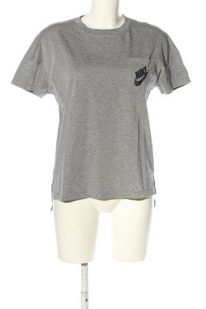 Nike Sportshirt hellgrau-schwarz meliert Casual-Look