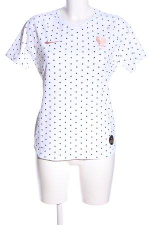 Nike Sportshirt weiß-blau Punktemuster Casual-Look
