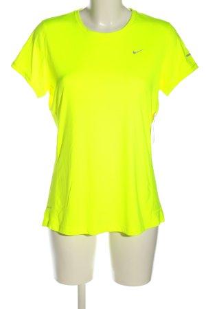 Nike Sportshirt blassgelb Casual-Look