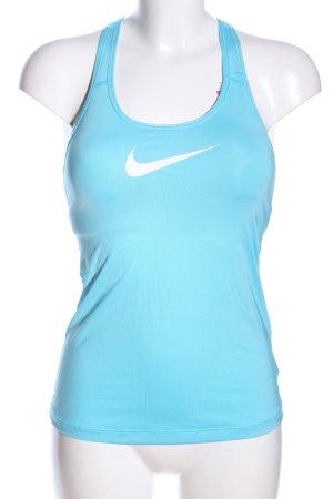 Nike Sportshirt blau Casual-Look