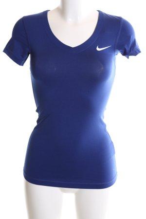 Nike Maglietta sport blu stile casual