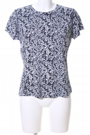 Nike Sportshirt schwarz-weiß abstraktes Muster Casual-Look