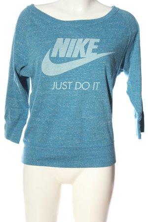 Nike Sportshirt blau meliert Casual-Look