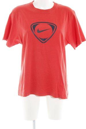 Nike Sportshirt hellrot Motivdruck Casual-Look