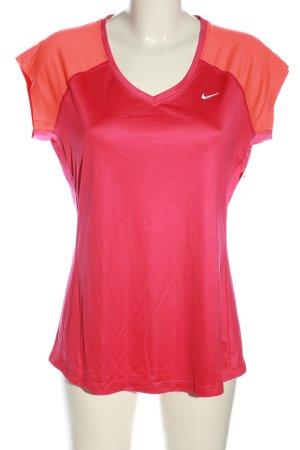 Nike Sportshirt pink-hellorange Casual-Look