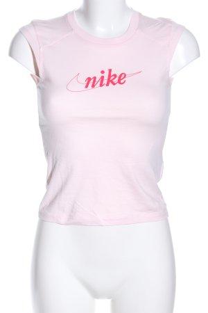 Nike Sportshirt pink Schriftzug gedruckt Casual-Look