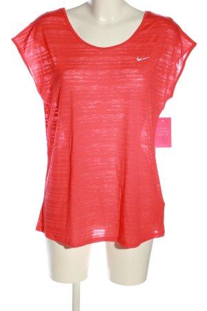 Nike Sportshirt rot Streifenmuster Casual-Look