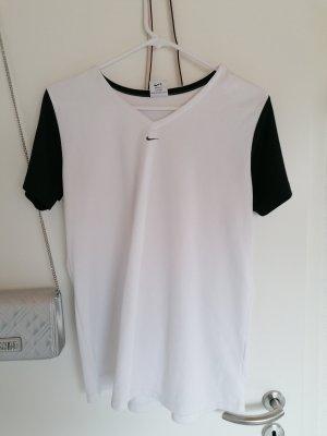Nike Sportshirt weiß/ schwarz