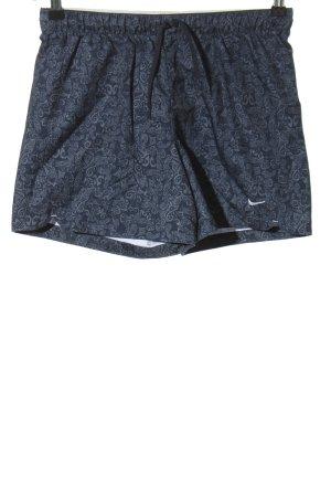 Nike Sportshorts blau-hellgrau Allover-Druck sportlicher Stil