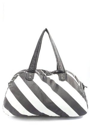 Nike Sports Bag white-black striped pattern casual look