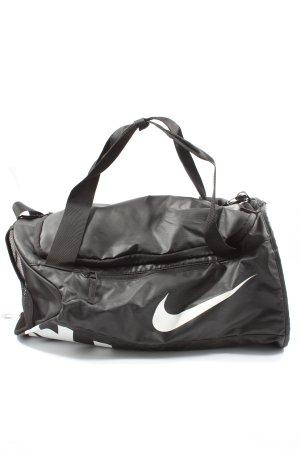 Nike Sporttasche schwarz-weiß Schriftzug gedruckt Casual-Look