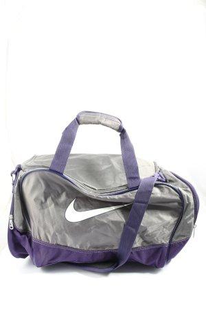 Nike Sac de sport gris clair-violet style décontracté