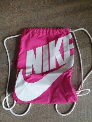 Nike Bolsa de gimnasio blanco-rosa
