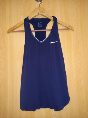 Nike Top deportivo sin mangas azul oscuro