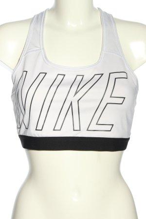 Nike Sporttop wollweiß-schwarz Casual-Look