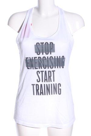 Nike Sporttop weiß Schriftzug gedruckt Casual-Look