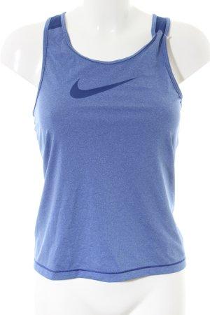 Nike Sporttop blau meliert sportlicher Stil