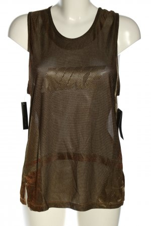 Nike Sports Tank bronze-colored printed lettering athletic style