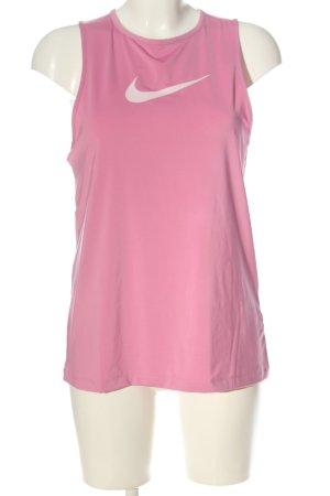 Nike Sporttop pink-weiß Casual-Look