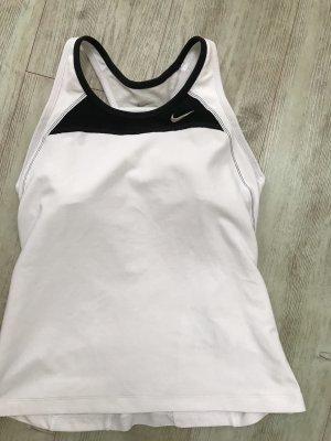 Nike Top deportivo sin mangas blanco-negro