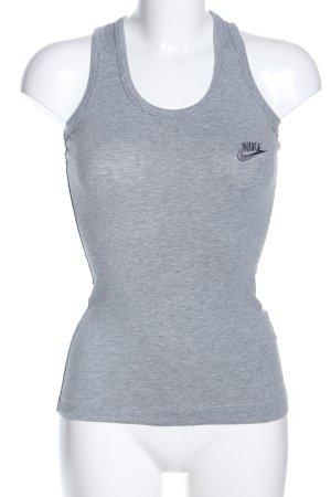 Nike Sporttop hellgrau meliert Casual-Look