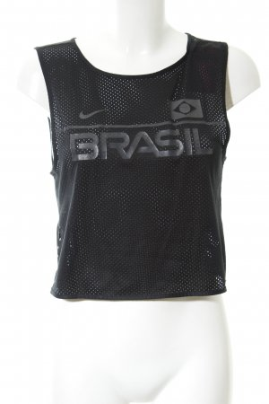 Nike Sporttop schwarz-grau Schriftzug gedruckt sportlicher Stil
