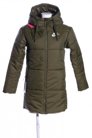Nike Quilted Coat khaki printed lettering casual look