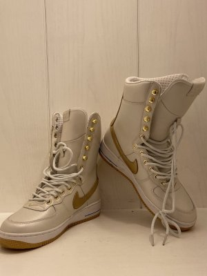 Nike High Top Sneaker natural white-gold-colored