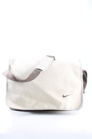 Nike Stoffen tas wolwit-bruin gestippeld casual uitstraling