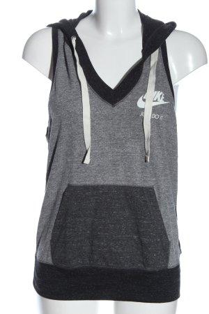 Nike Haut tricotés noir-gris clair moucheté style décontracté
