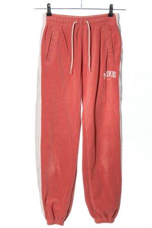 Nike Pantalone fitness rosa-bianco stile atletico
