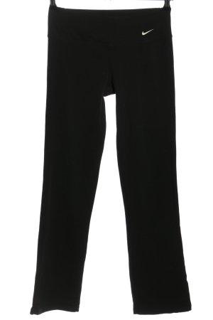 Nike Pantalón deportivo negro-blanco letras impresas look casual