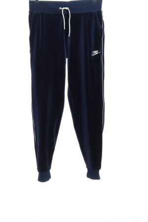 Nike Pantalone fitness blu stile casual