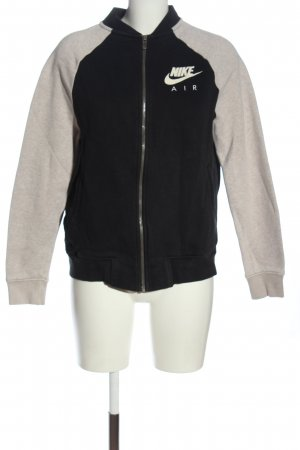 Nike Sweatjacke schwarz-wollweiß meliert Casual-Look