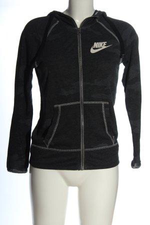 Nike Sweatjacke schwarz-hellgrau Camouflagemuster Casual-Look