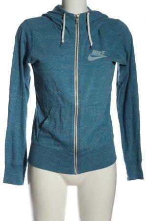 Nike Sweatjacke blau meliert Casual-Look