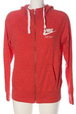 Nike Sweatjacke rot-weiß meliert Casual-Look