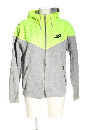 Nike Sweatjacke hellgrau-grün meliert Casual-Look
