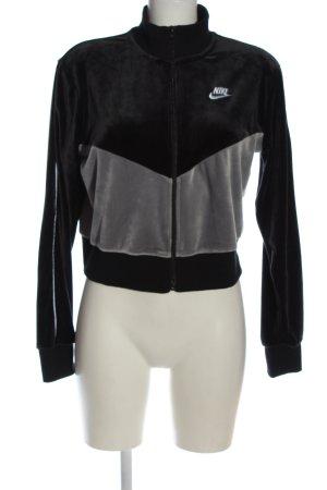 Nike Sweatjacke schwarz-silberfarben Casual-Look