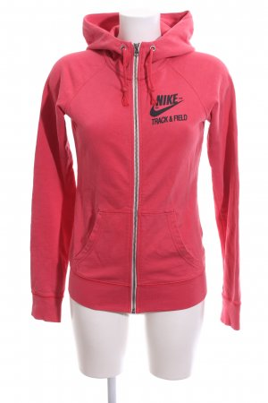 Nike Giacca fitness rosso caratteri stampati stile casual