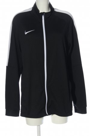 Nike Sweatjacke schwarz-weiß Motivdruck Casual-Look