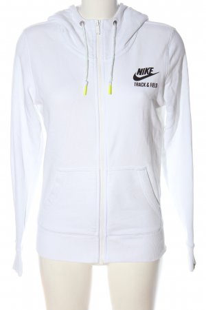 Nike Sweatjacke weiß Schriftzug gedruckt sportlicher Stil