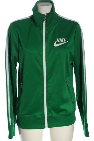 Nike Sweatshirt grün Schriftzug gedruckt Casual-Look