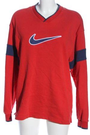 Nike Sweatshirt rot-blau Casual-Look