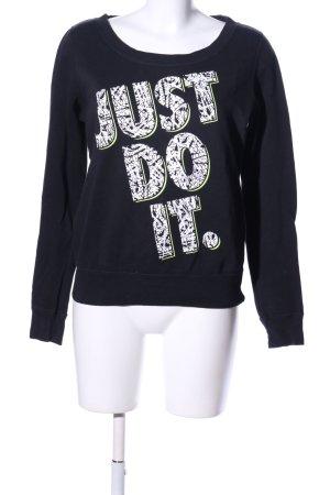 Nike Sweatshirt schwarz-weiß Schriftzug gedruckt sportlicher Stil